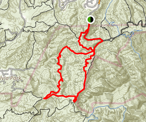 Upper Rustic Garapito Loop Trail Map