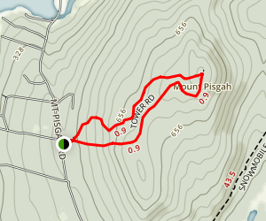 Mount Pisgah Fire Trail Map