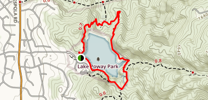 Lake Poway Loop Trail Map