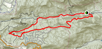 Rim of the Gap - Pinnacle Pass loop Map