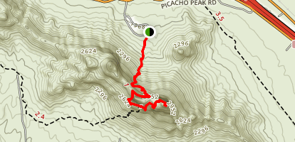 Hunter Trail to Picacho Peak Map