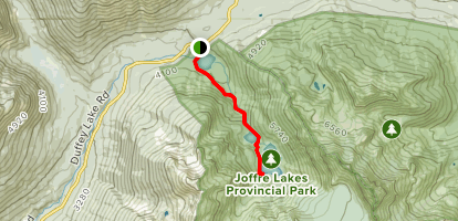 Joffre Lakes Map