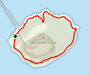 Mackworth Island Hiking Trail Map