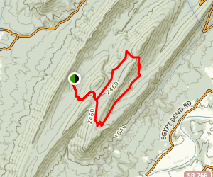 Duncan Knob, Massanutten Mountain Map