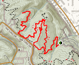 Wild Cherry Alder Loop Trail Map