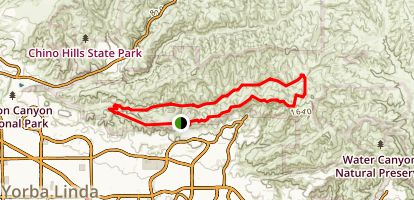 South Ridge and Telegraph Canyon Loop Map