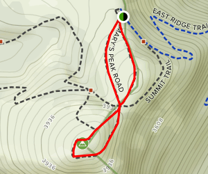 Marys Peak Summit Trail Map