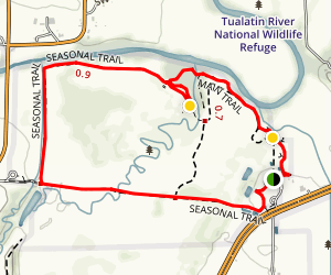 Tualatin River National Wildlife Refuge Main Trail Map
