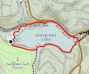Evergreen Lake Trail Map