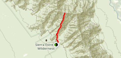 Quartz Peak Trail  Map