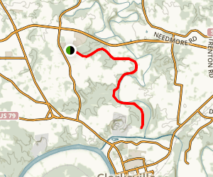 Clarksville Greenway (Mary's Oak Trailhead) Map