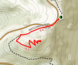 The Watchman Peak Trail Map