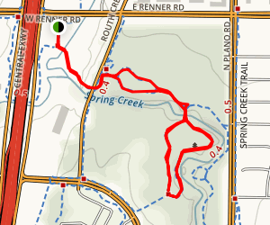 Spring Creek Nature Area Trail Map