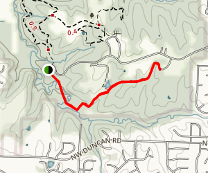 Hickory Grove Trail: Burr Oak Woods Conservation Area Map