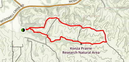 Konza Godwin Hill Loop Trail Map