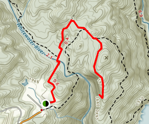 Lower Whitewater Falls Map