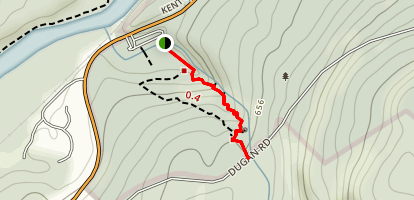 Kent Falls State Park, Kent, CT ( red trail loop) Map