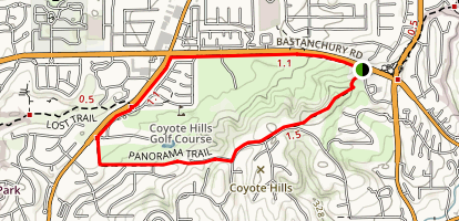 Fullerton Panorama Trail Map