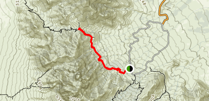 Baylor Canyon Pass Trail Map