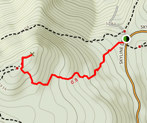 Hawksbill Summit Trail Map