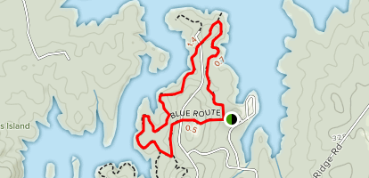 New Hope Overlook Blue Route Map