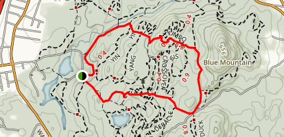 Blue Mountain Twin Summits Trail Map