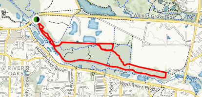 Wolf River Trails from Walnut Grove Road Map