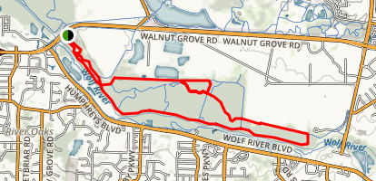 Wolf River Trails (Lucius Burch Natural Area) Map