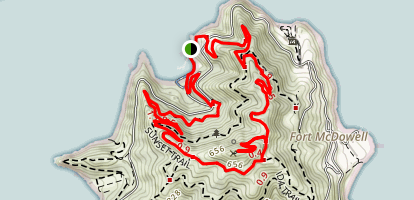 North Ridge and Sunset Trail Loop Map