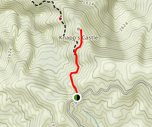Knapp's Castle Trail Map