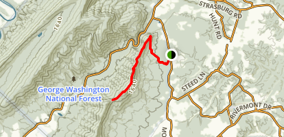 Buzzard Rocks  Map