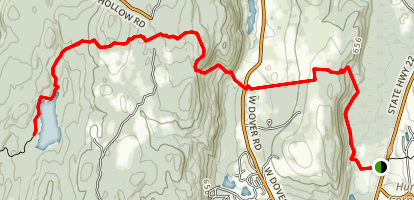 Corbin Hill and Pawling Nature Reserve via Appalachian Trail Map