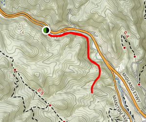 Railroad Bed above Manitou Springs Map