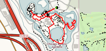 Chicago Botanic Garden Hike Map