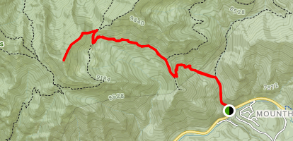 Butler Fork and Desolation Trail to Mount Raymond Map
