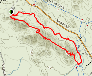 Brown Mountain Loop Trail Map