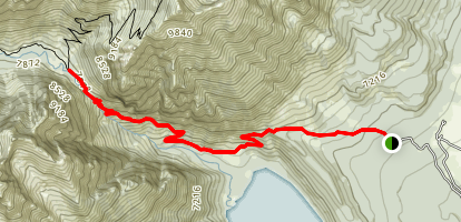 Death Canyon to Patrol Cabin Map