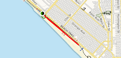 Huntington Dog Beach Trail Map