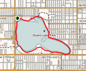 Sloan Lake Park Map