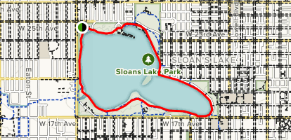 Sloan Lake Loop Map