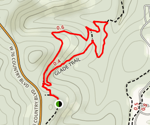 Glade Exploration Trail; Ruth and Paul Henning Conservation Area Map