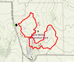Paint Mines Trail Map