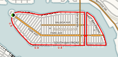 Balboa Island Wedge Trail Map