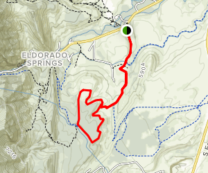 Doudy Draw and Spring Brook Loop Trail Map