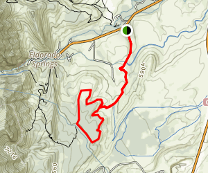 Doudy Draw Trail Map