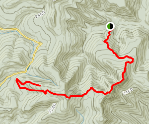 Burroughs Range Trail Map