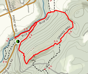 Point Mountain Peak to River Trail Map