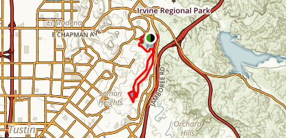 Peters Canyon Loop Trail Map