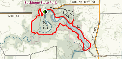 West Lake and East Lake Trail Loop Map