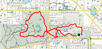 Dear Grove East Red, Black and Brown Loop Map